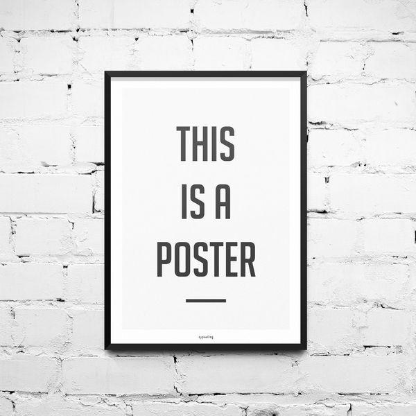 Kunstdruck Poster / Poster von typealive auf DaWanda.com