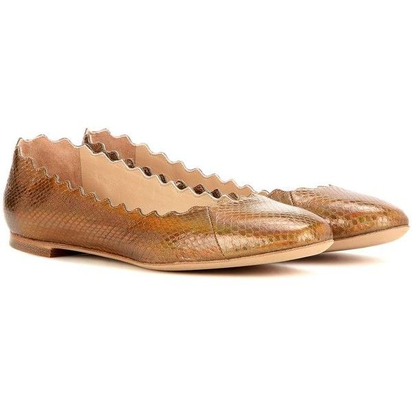 exclusive for sale new cheap price Chloé Lauren Snakeskin Flats ABwv8Wl
