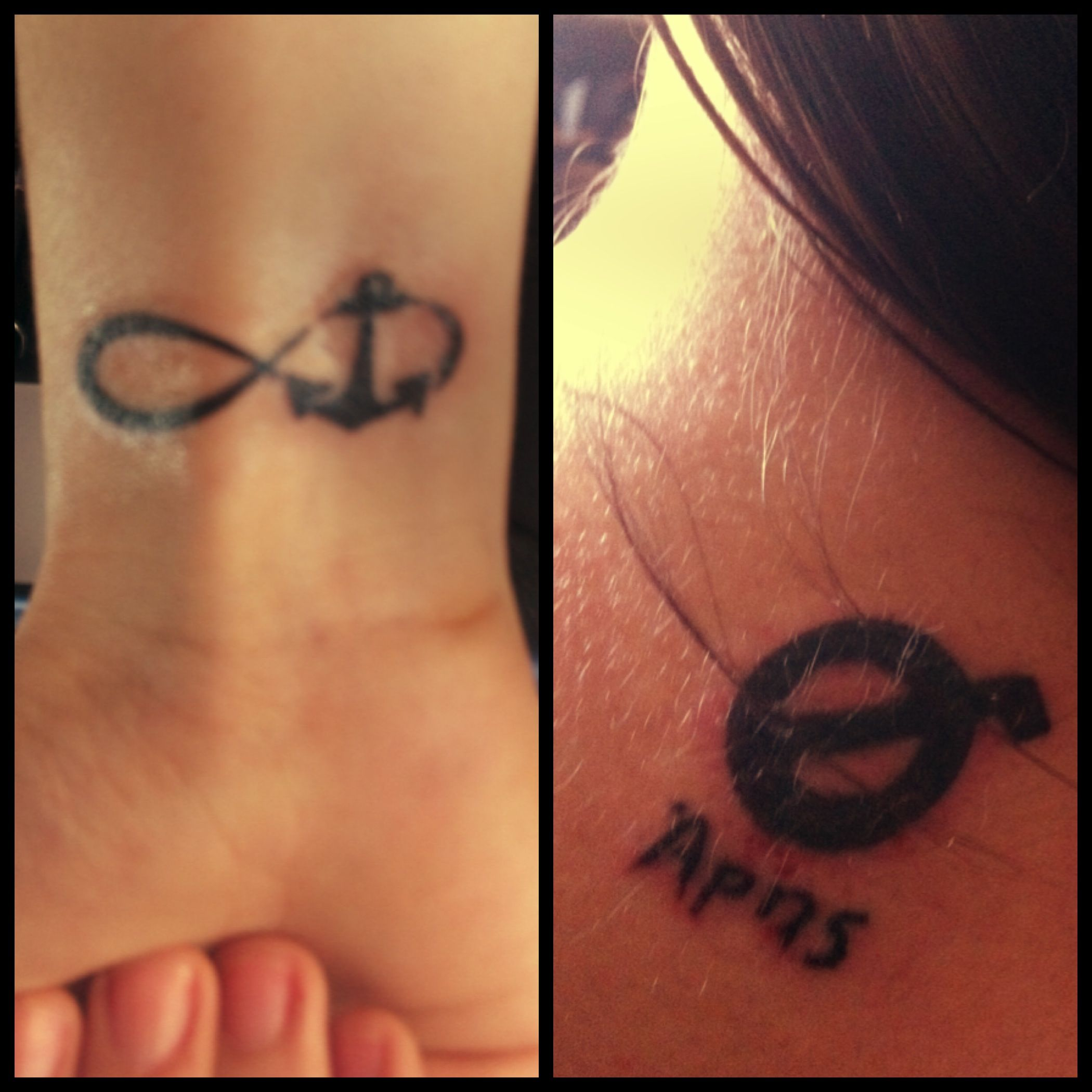 New ink anchor with lemniscate or infinite symbol and sign of ares tattoo buycottarizona Images