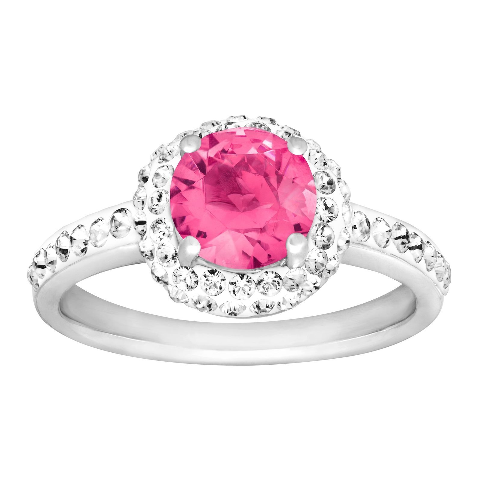 Cool Great Crystaluxe October Ring with Pink Swarovski Crystals in ...