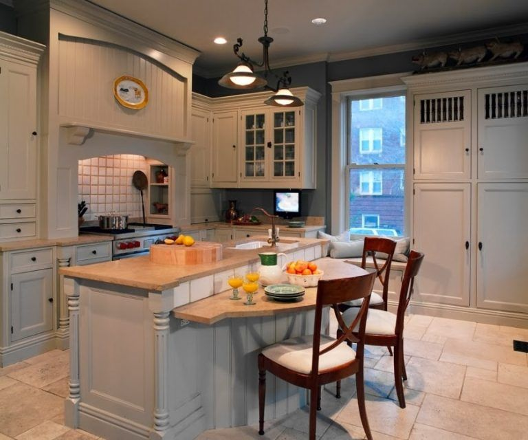 Kitchen Island with Breakfast Bar Lower Seating Area | Idee per la ...