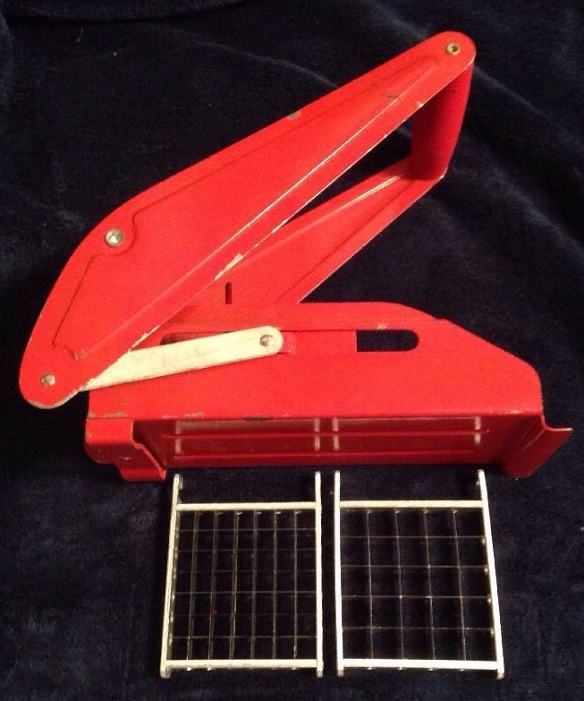 Mrs. Damar's RED Professional French Fried Potato Cutter Collectible Retro 1950s #Damar