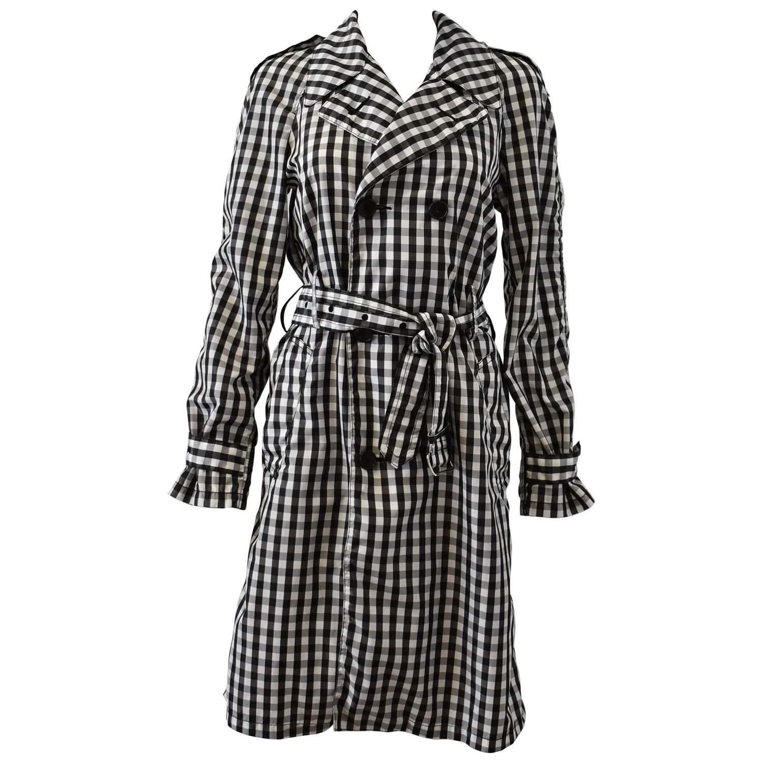 f5d824981f7 Comme des Garcons Black and White Check Trench Coat