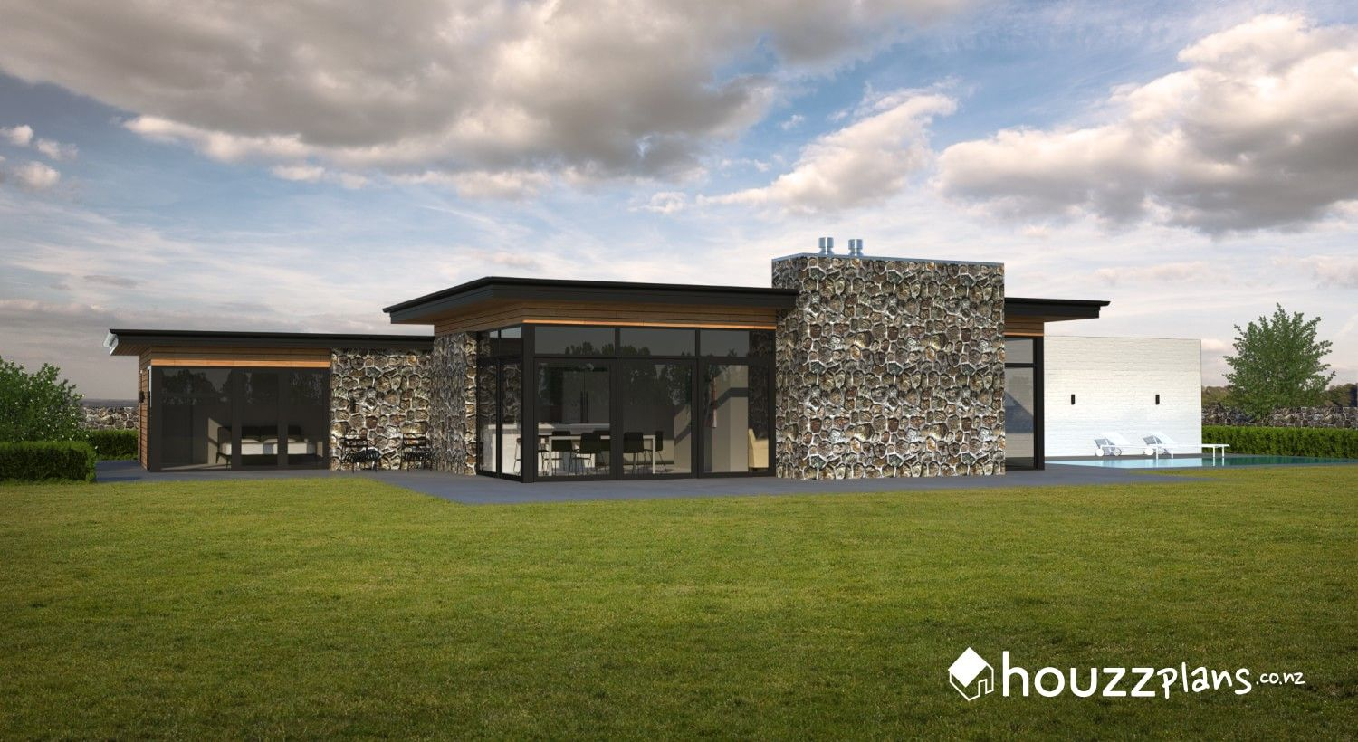 Ryder Modern Contemporary House Plan Browse All House Plans Here Www Houzzplans Co Nz New House Plans Modern Contemporary House Plans House Plans