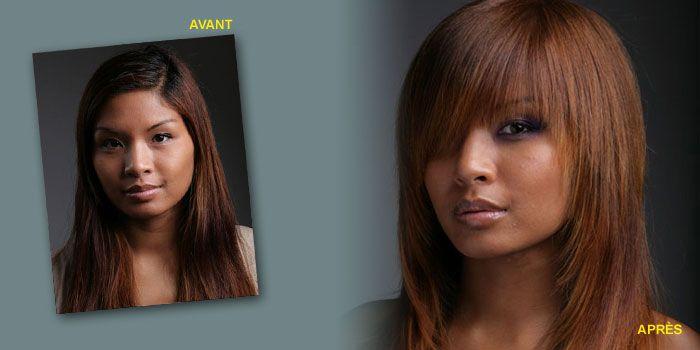 Coupe de cheveux femme mi long asiatique
