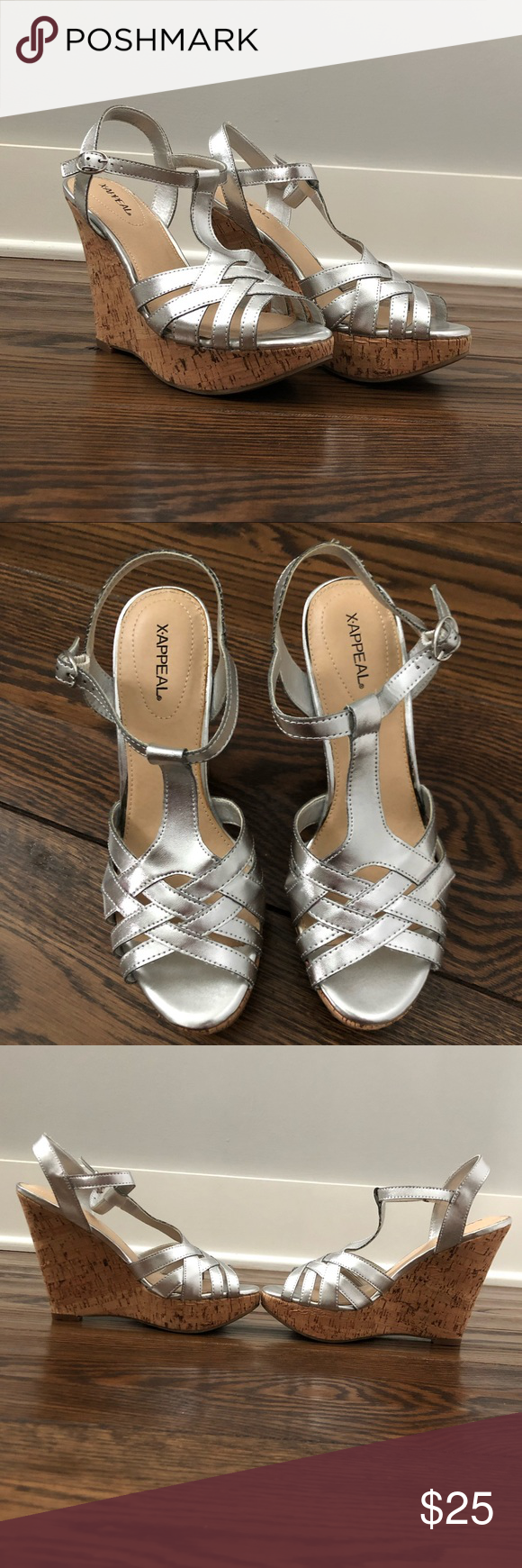Silver wedges by XAppeal