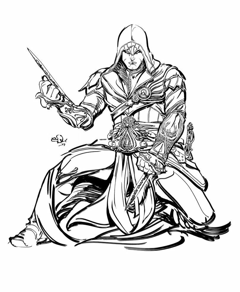 Pin De Konpanya Kartoons En Assassin S Creed Para Colorear Ezio