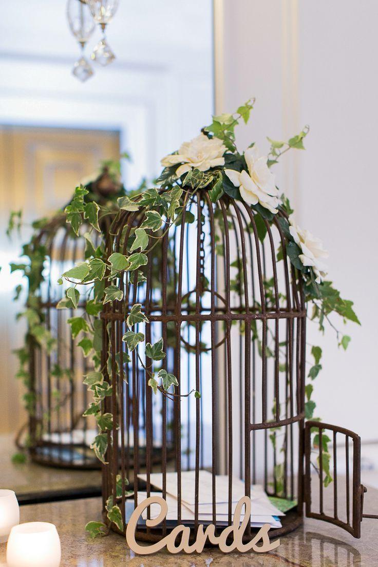 Rustic Bird Cage Wedding Card Box // greenery, wedding ...
