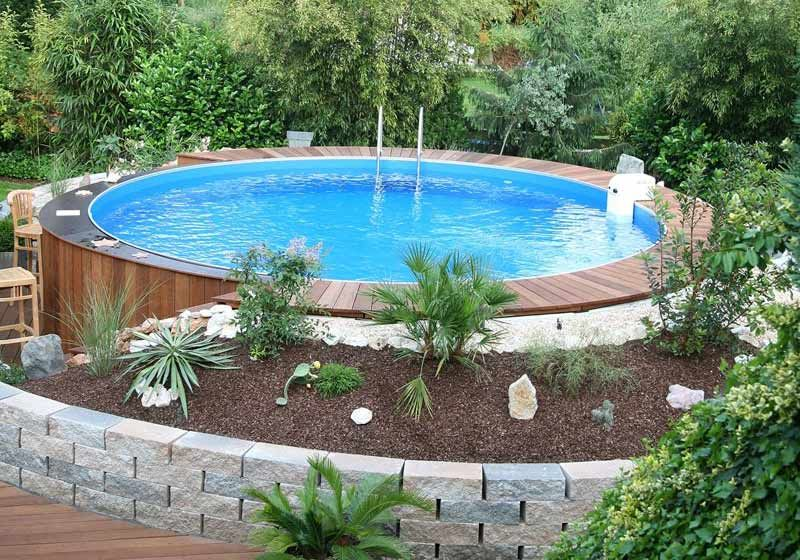 Image result for Above Ground Pool Landscape Designs | Backyard ...
