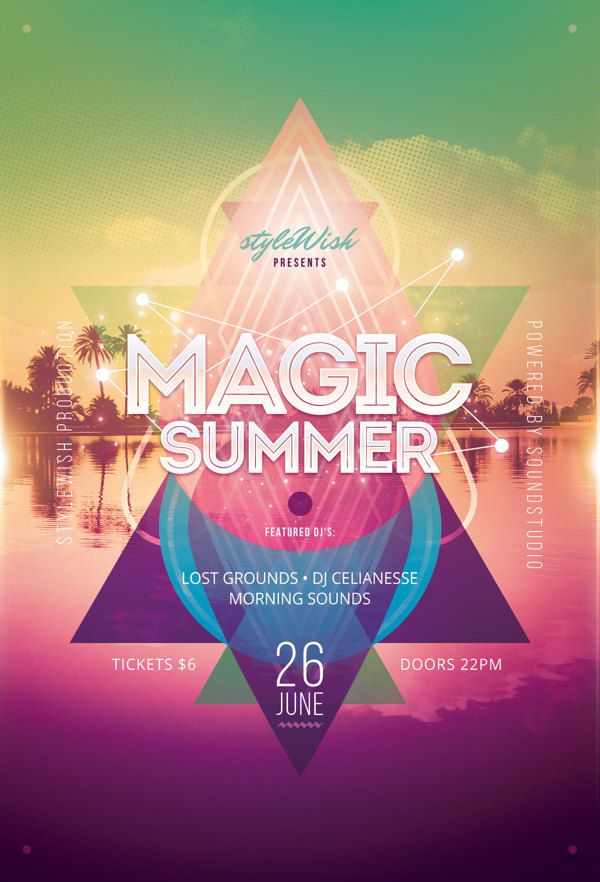 Magic Summer Flyer By Stylewish Via Behance  Design