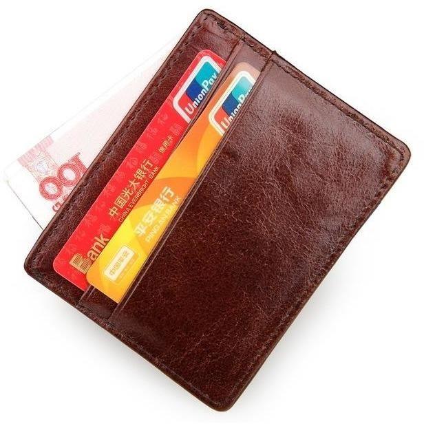 Best Vintage Credit Card Holder Genuine Leather Minimalist 640 x 480