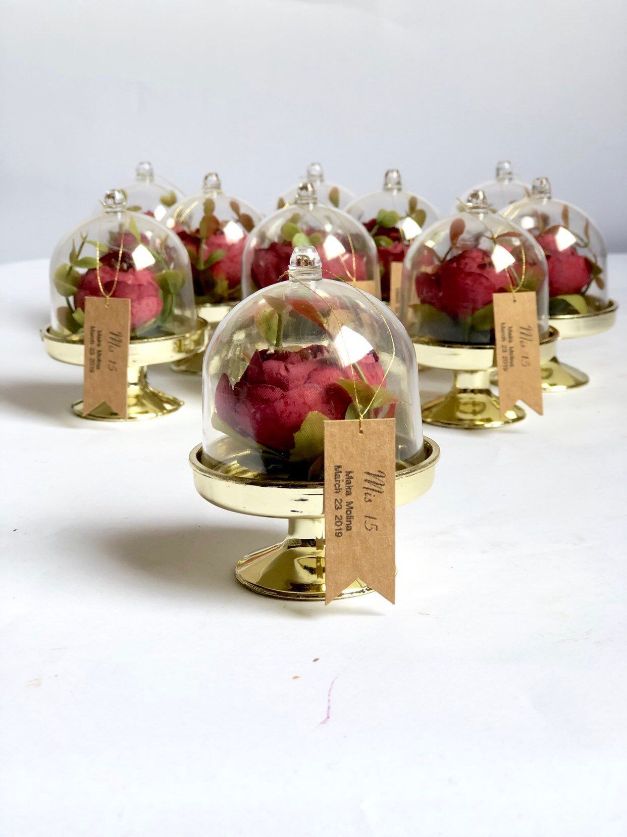 10 pcs dome beauty and the beast favor, cloche dome, wedding