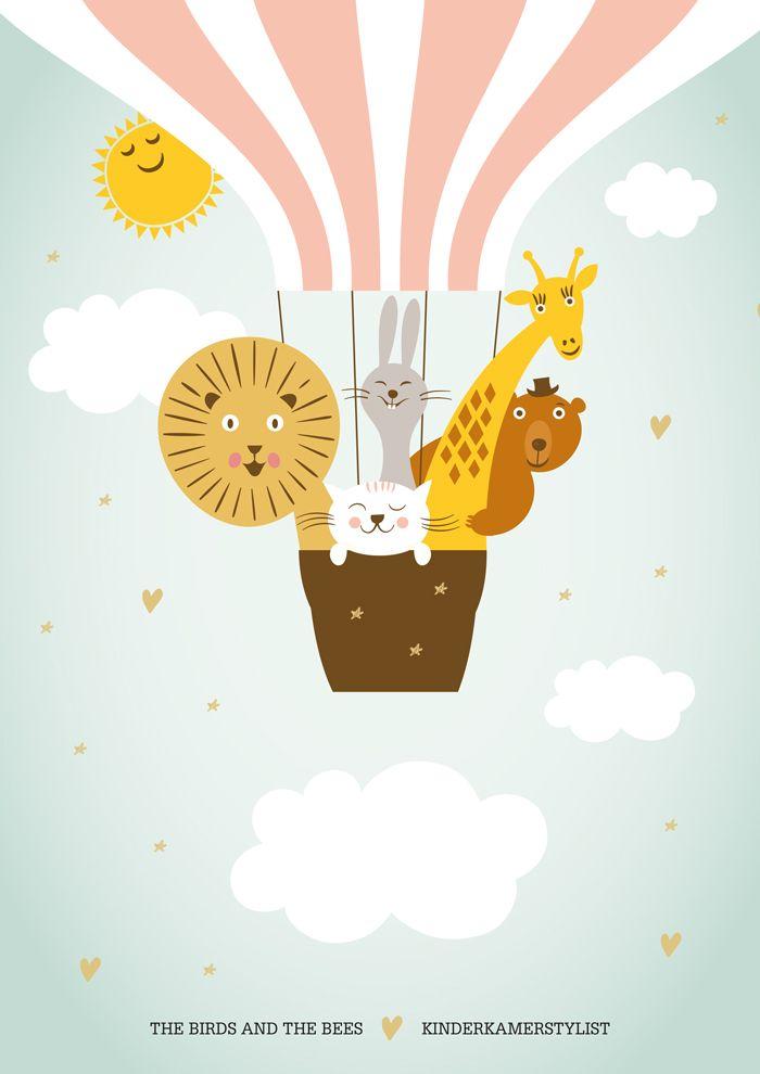 download gratis deze deurposter zet naam het kindje in de wolk