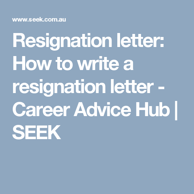 Resignation Letter How To Write A Resignation Letter  Career