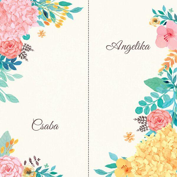 Tomboló nyár – Angelika és Csaba meghívója | Wedding Design Blog