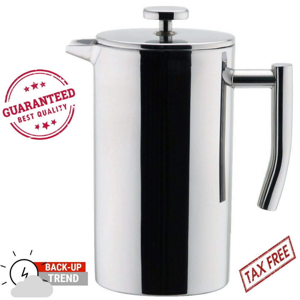 Mira stainless steel french press double walled coffee maker tea