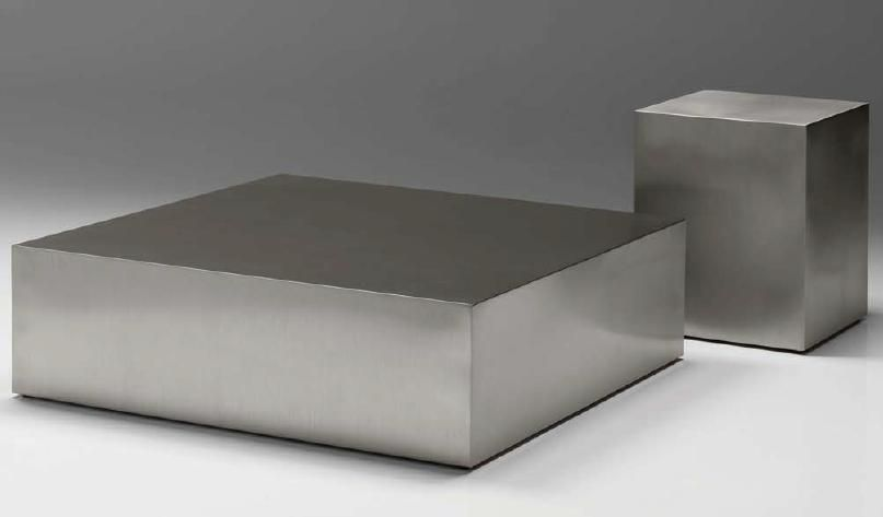 stainless steel block coffee table A Pinterest Modern coffee