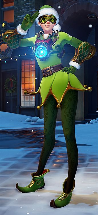 Tracer Christmas Skin.Jingle Tracer Overwatch Winter Wonderland Skin 1920x1080