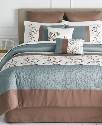 Woodbury 8 Piece Comforter Sets Bed In A Bag Bed Bath Macy S Comforter Sets Bedding Sets King Comforter Sets Bed in a bag sale