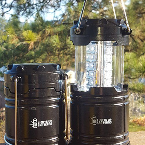 Portable Tough Led Lantern By Lights Up Lanterns Great For Outdoor Hiking Camping Lights Or Emergency Outage Use 2 Pack With Batteri Camping Lights Led Lantern Camping Accessories