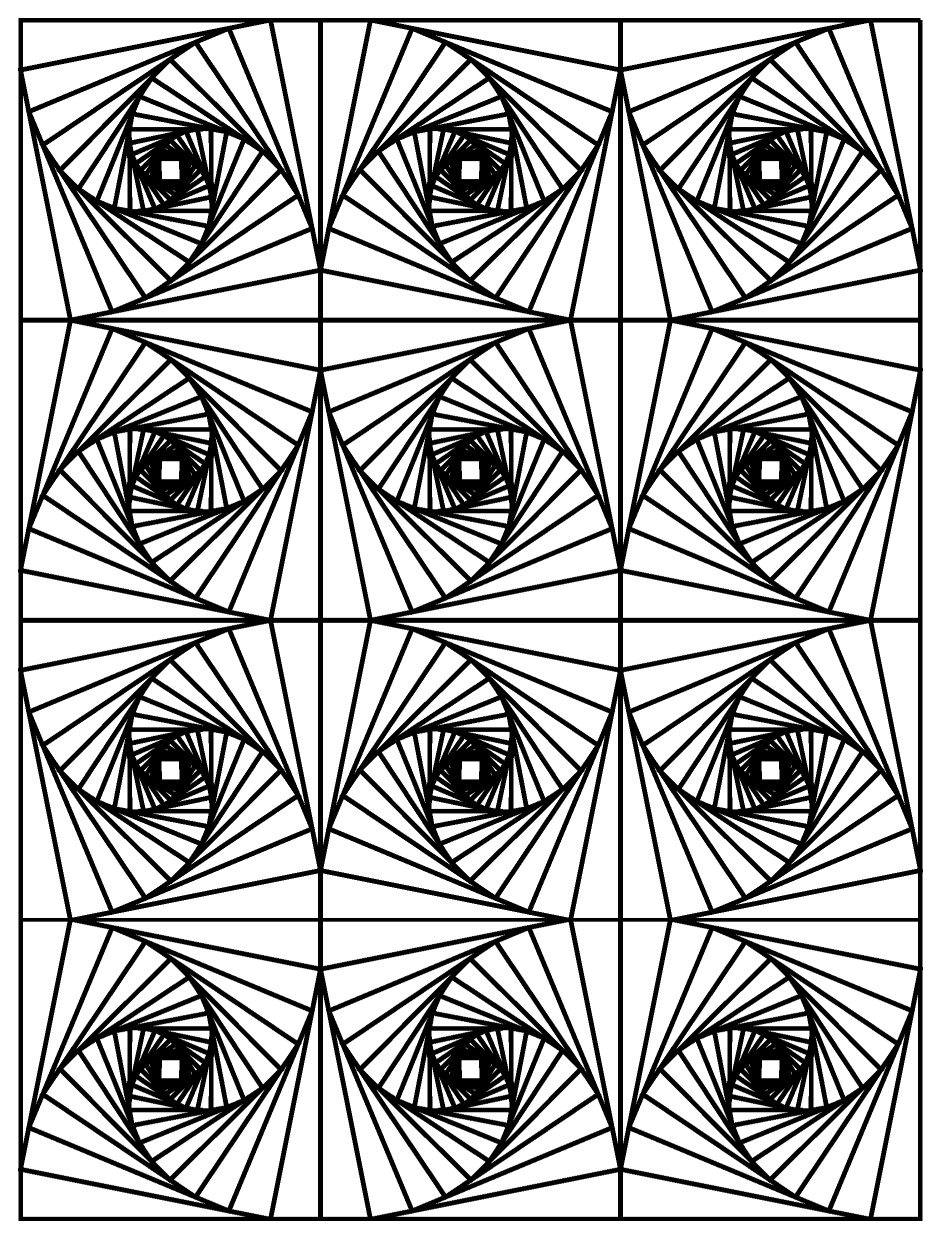 Galerie de coloriages gratuits coloriage op art illusion optique 3