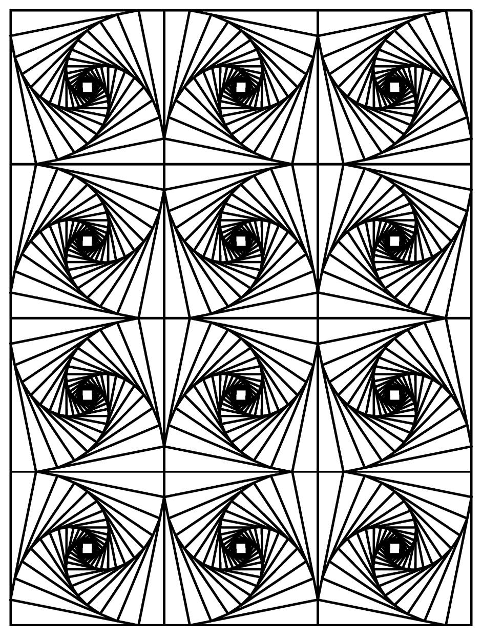 Http Www Coloriages Adultes Com Coloriage Op Art Illusion Optique Image Op Art Illusion Geometric Coloring Pages Abstract Coloring Pages Free Coloring Pages