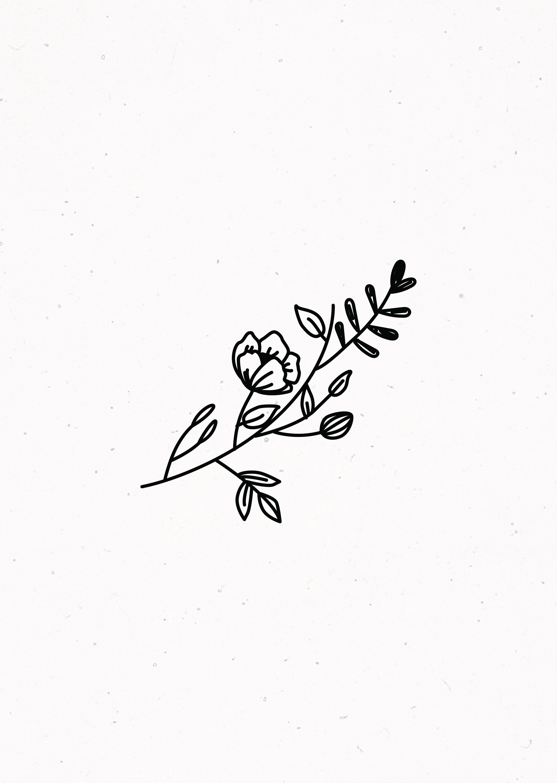 Aesthetic Flower Drawing Easy
