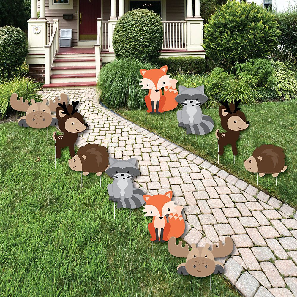 Woodland creatures forest animal lawn decorations for Animal decoration ideas
