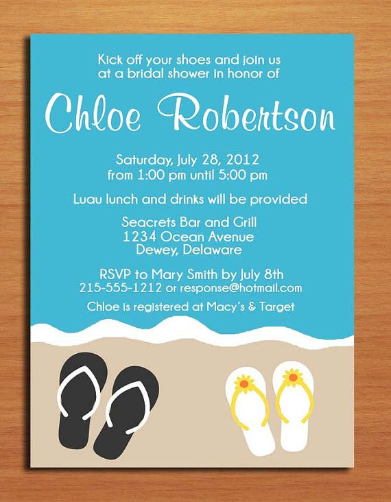 Beach themed bridal shower invitation ocean themed invitation make a statement for your brides bridal shower with these colorful and modern bridal shower invitation filmwisefo