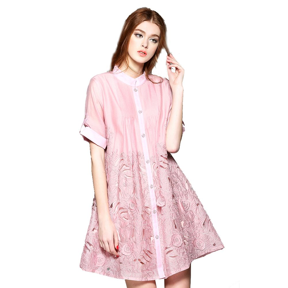 >> Click to Buy << Quality Ladies Casual Style Dress Cute A-line Women Above Knee Mini Length Short Slevee Embroidery Dress Female Summer A Dress #Affiliate