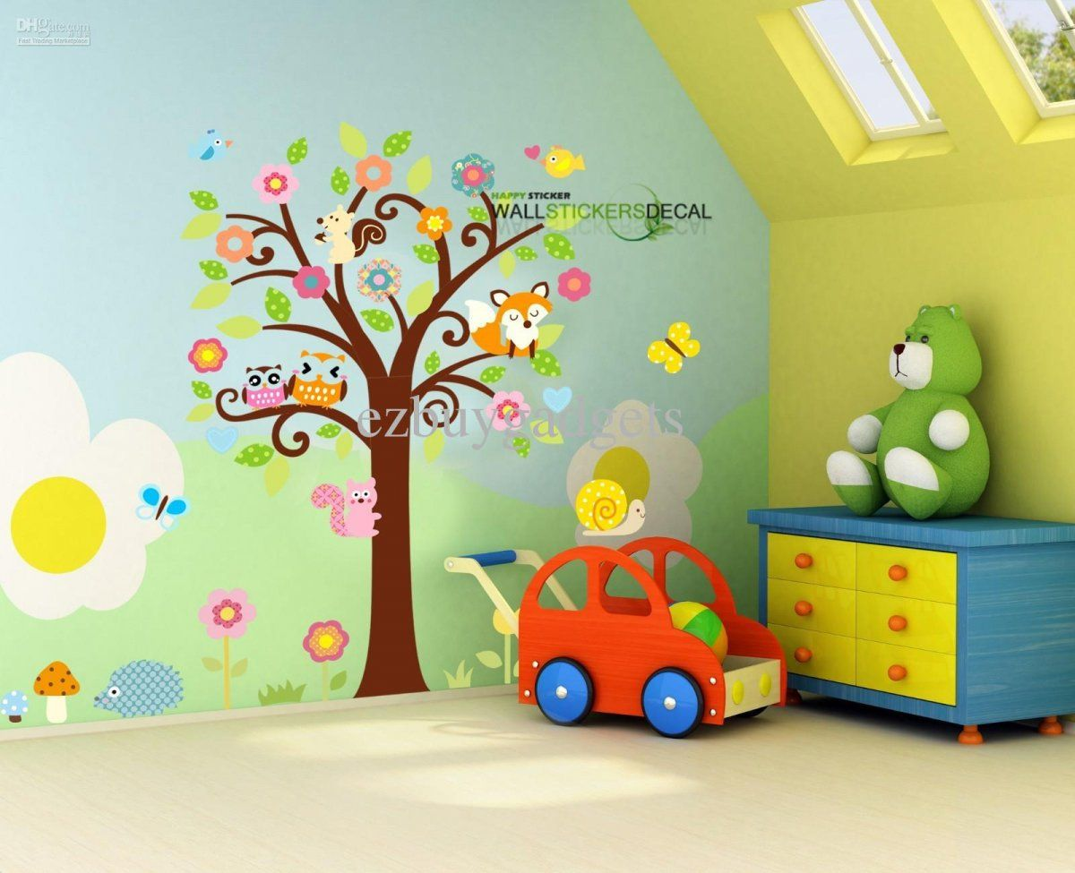Cute Attractive Kids Room U0026 Nursery Baby Rooms Wall Decals Wall Decoration  Ideas