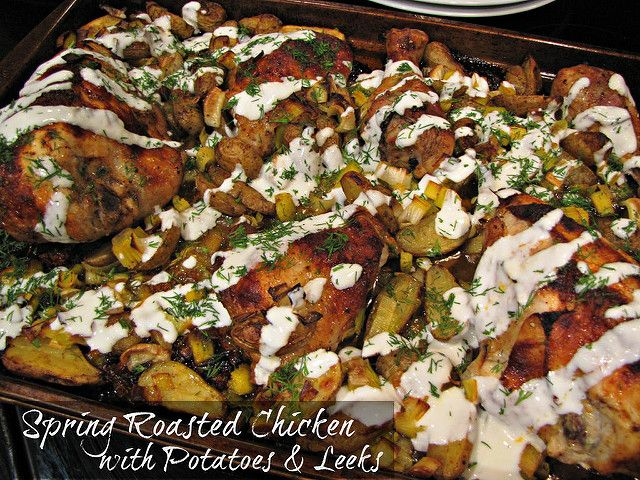 Spring Roasted Chicken with Potatoes & Leeks