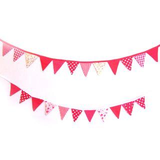 Mini banderines rojos y blancos