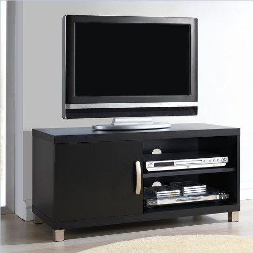 techni mobili tv stand with 1 door in black for tvs up to 37 inch ... - Mobili Tv Amazon