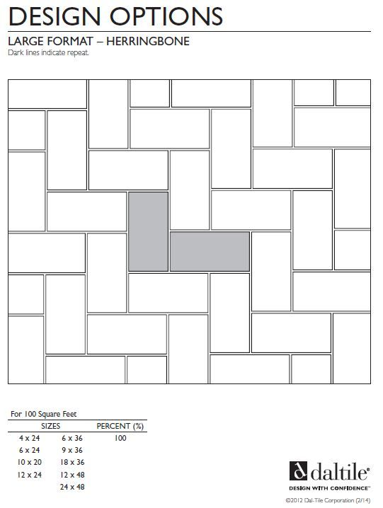 Herringbone Tile Pattern For Large