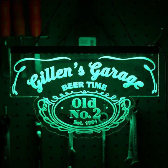 Personalized LED Neon Sign - Man Cave Sign - Custom LED