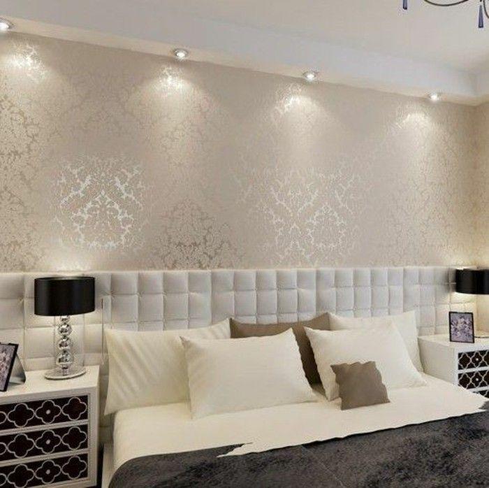 Les papiers peints design en 80 photos magnifiques Bedrooms, House - papier peint pour chambre a coucher