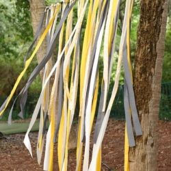 A round up of using ribbons as a feature in your wedding decor, from ceremony to reception. (image via Style Me Pretty)