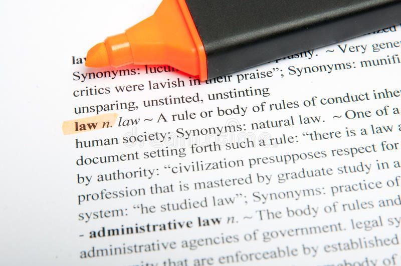Law translation dictionary. Translation of the word law in