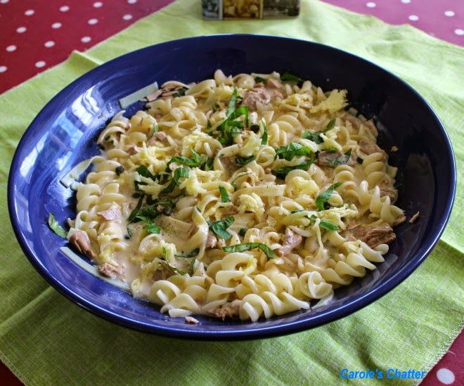 Carole's Chatter: Pasta with Tuna, Capers & Cream