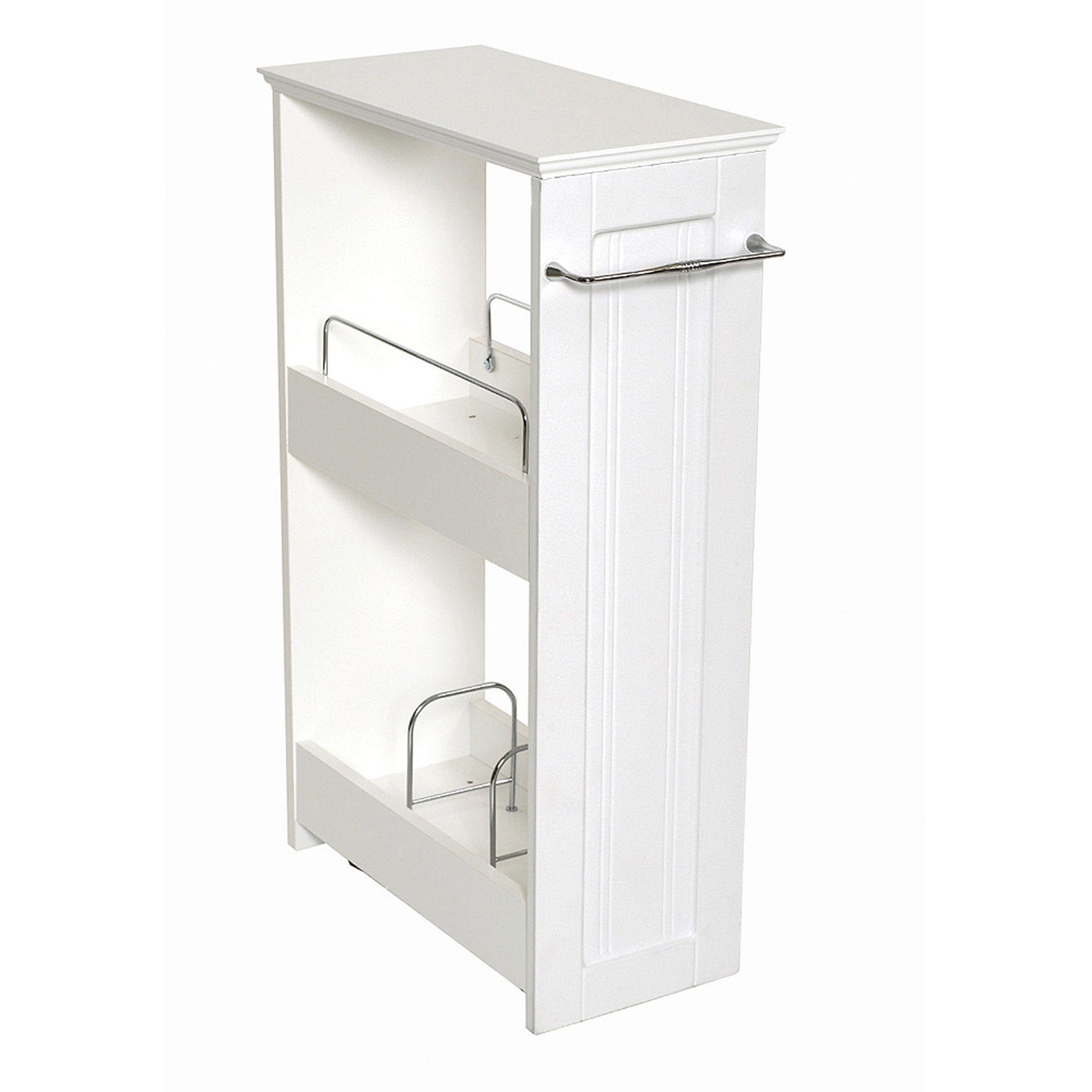 Slim Storage Cabinet Kitchen Wood Storage Shelves Small Bathroom Storage Bathroom Storage Organization