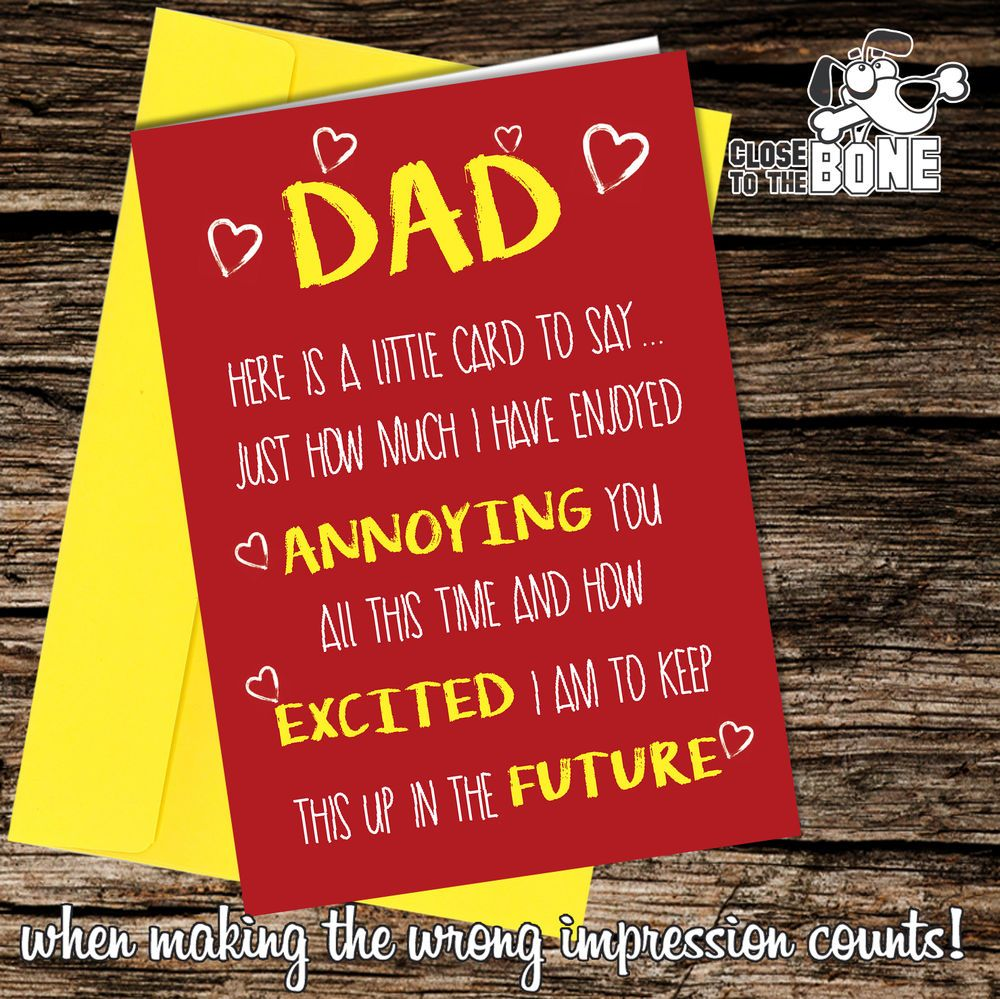 Greetings Card Comedy Rude Funny Humour Birthday or Fathers Day Dad Daddy #164  | eBay