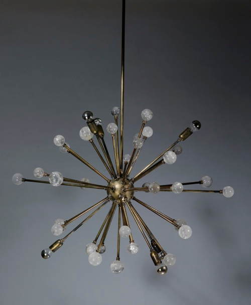 Kaboom Chandelier With Rock Crystal Finials T3548 Tyson London Decorative Lighting And Furniture