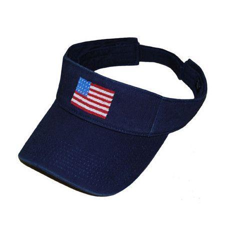 94fcdfce428 Smathers   Branson American Flag Visor in Navy