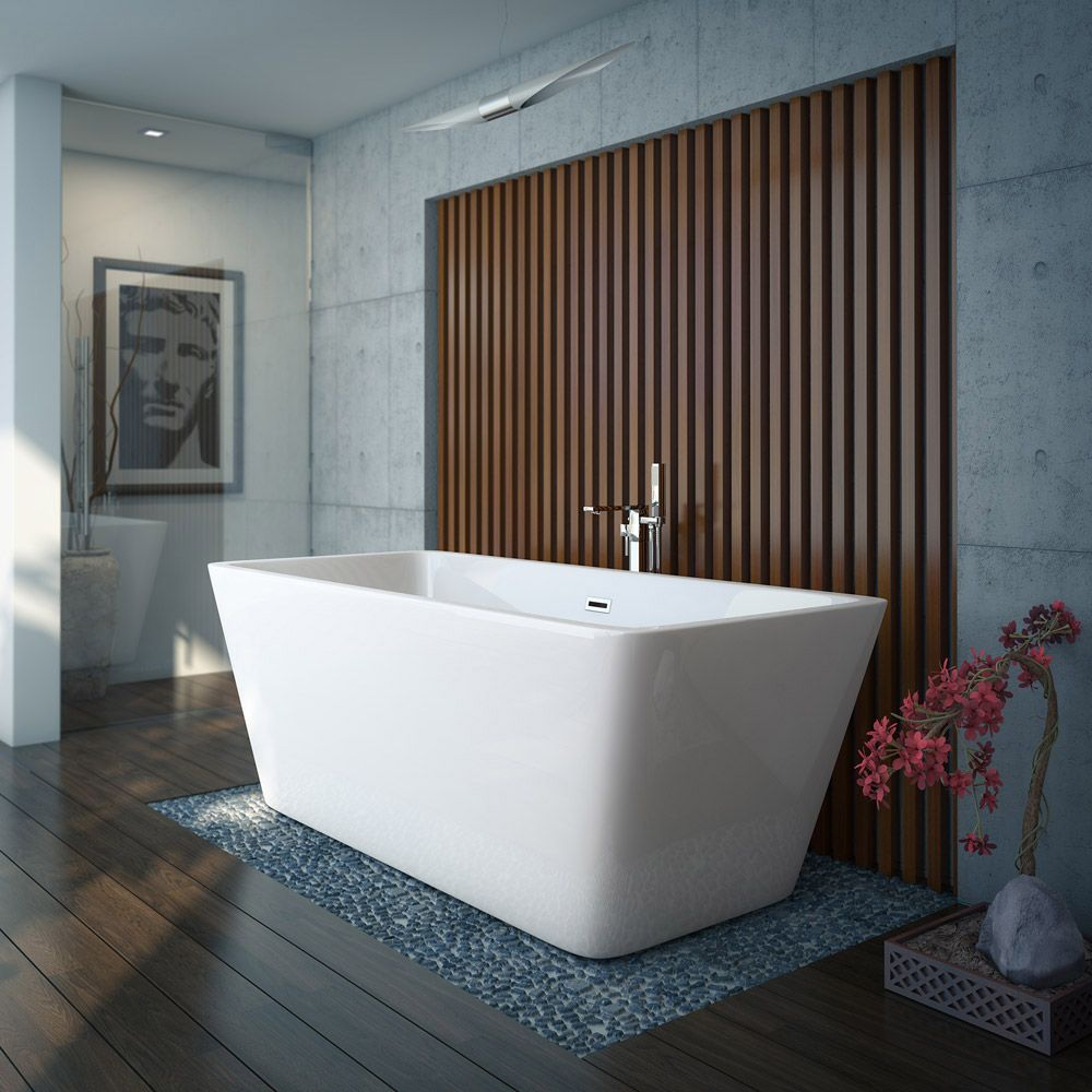 Valencia 1615 Square Modern Freestanding Bath | Freestanding bath ...