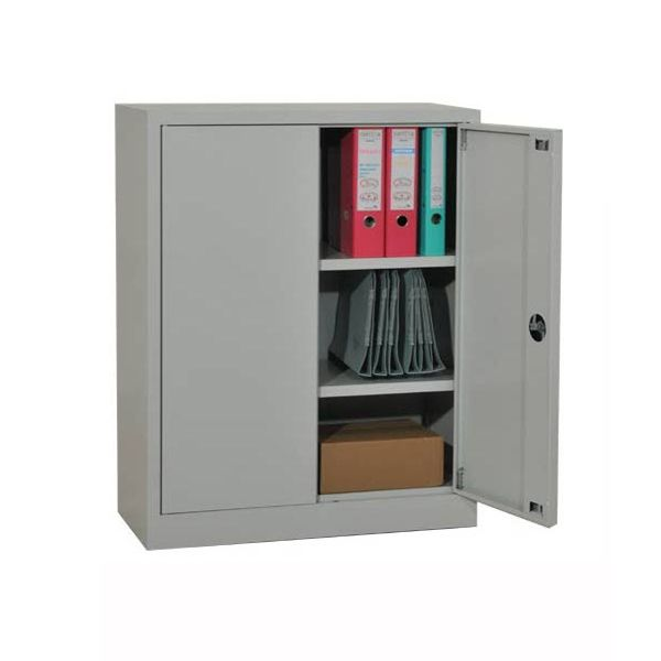 Armoire metallique portes battantes h100xl80xp38cm for Meuble bureau metallique