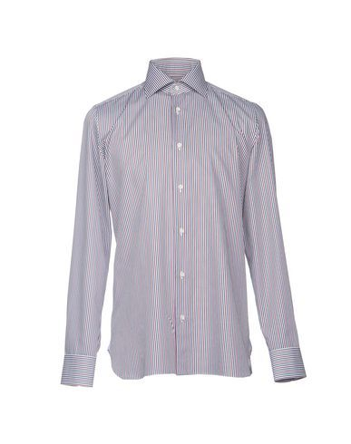 LUIGI BORRELLI NAPOLI Men's Shirt Deep purple 15 ¾ inches-neck