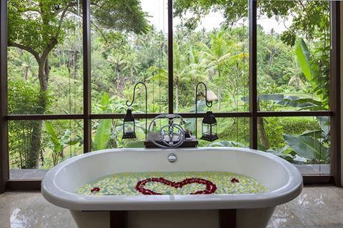 The Komaneka In Ubud Bath And A View Great Small Hotel To Stay At