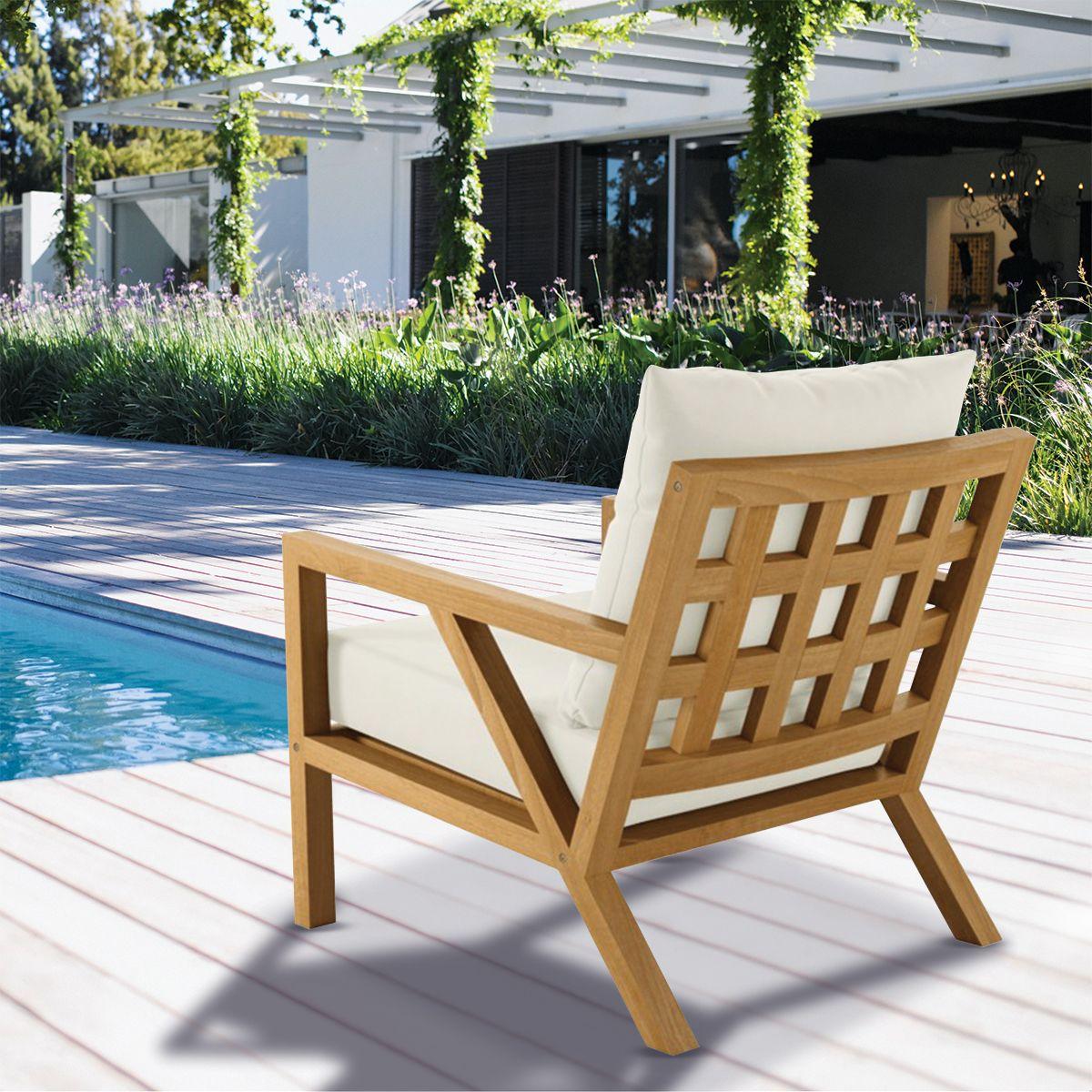 Alyn Club Chair | Thos. Baker #outdoorfurniture #patiofurniture  #poolfurniture