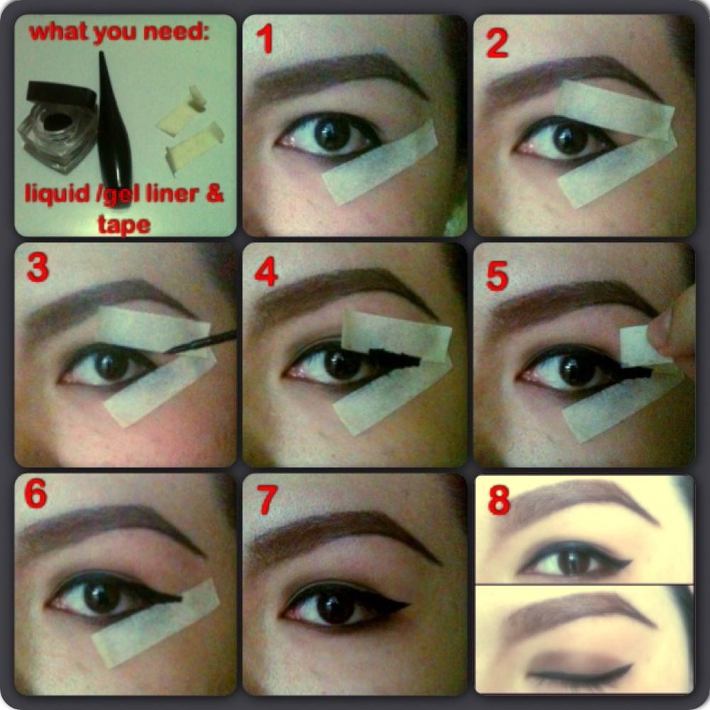 an easy step by step procedure on how to make cats eye